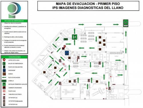Mapa de evacuación 1